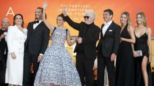 Alfombra roja de la proyección de la película 'Dolor y Gloria' en competencia en Cannes, Francia, el 17 de mayo de 2019.