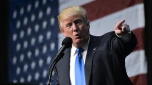 Donald Trump en campagne, dimanche 6 novembre, à Sioux City, dans l'Iowa.