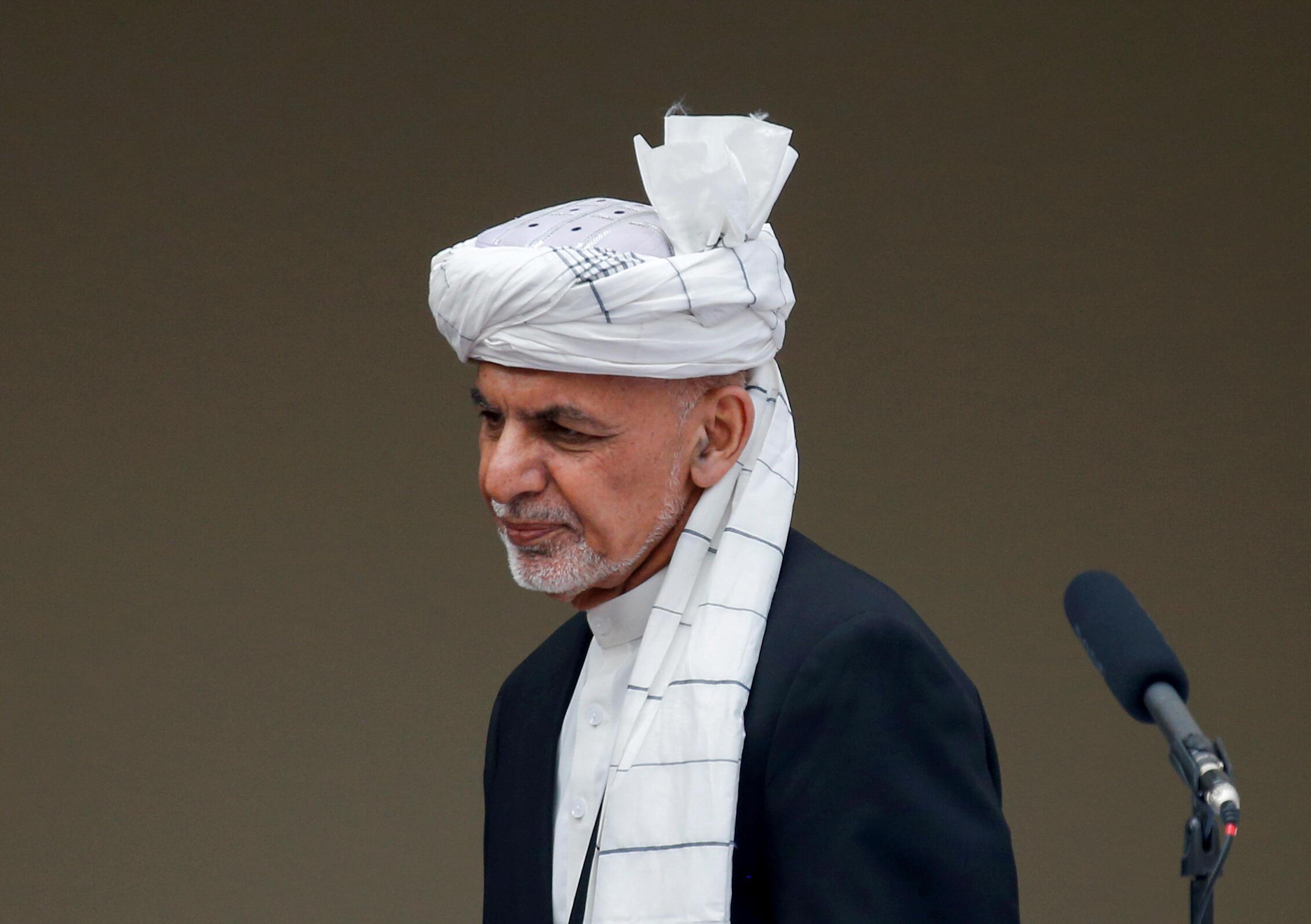 Le président afghan, Ashraf Ghani, le 9 mars 2020 à Kaboul.