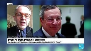 2021-02-03 12:10 Italy political crisis: Ex-ECB Chief Draghi being asked to form new govt