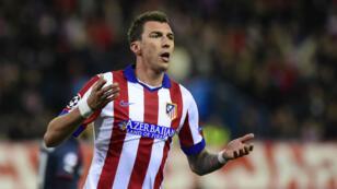 MAndzukic, auteur d'un triplé avec l'Atletico Madrid, a été l'homme de la soirée.