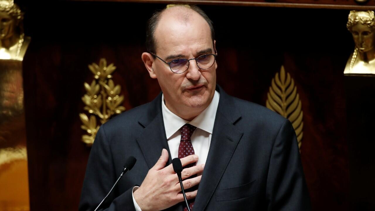 El nuevo primer ministro francés, Jean Castex, comparece ante la Asamblea Nacional para presentar el plan de rescate contra la crisis del Covid-19, que prevé una dotación de 110.000 millones de dólares. En París, Francia, el 15 de julio de 2020.