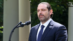 Le Premier ministre démissionaire du Liban, Saad Hariri