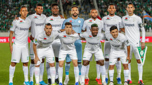 Le club marocain du Raja Casablanca, ici au stade Mohammed V le 28 février 2020, va reprendre le championnat national