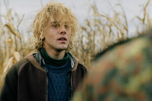 "Xavier Dolan in ""Tom at the Farm""."