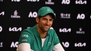 Novak Djokovic tells reporters Sunday that he still gets nervous ahead of big matches