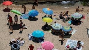 Une plage près de Gerone, en Espagne, le 5 juillet 2020