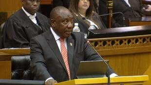 President Cyril Ramaphosa delivers his state of the nation address.