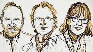 العلماء الفائزون بنوبل للفيزياء 2018: الأمريكي آرثر آشكين والفرنسي جيرار مورو والكندية دونا ستريكلاند