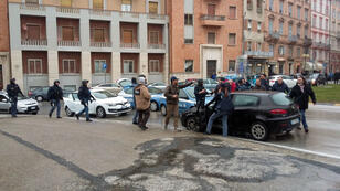 Le véhicule du suspect qui a été interpellé, samedi 3 février.