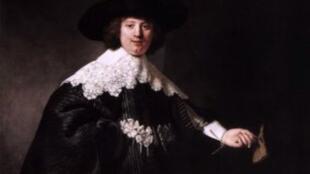 L'un des deux portraits peints par Rembrandt
