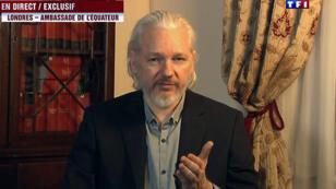 Le fondateur de WikiLeaks, Julian Assange, lors de son interview télévisée du 24 juin 2015.