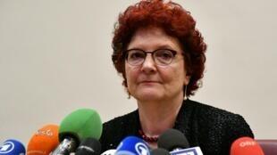 Andrea Ammon, directora del Centro Europeo de Prevención y Control de Enfermedades (ECDC, por sus siglas en inglés), el 26 de febrero de 2020 en Roma