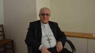 Mgr Yousif Thomas Mirkis, archevêque chaldéen du diocèse de Kirkouk et Souleymanieh, en Irak, lors de sa visite à Paris en juin 2015.