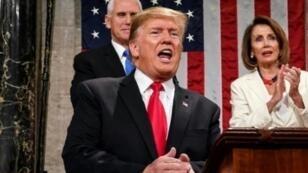 الرئيس الأمريكي دونالد ترامب أمام الكونغرس