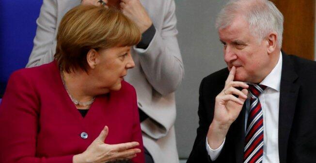 Angela Merkel y Horst Seehofer