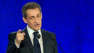 Le président du parti Les Républicains, Nicolas Sarkozy, le 8 juin 2016 à Saint-Andre-lez-Lille (Nord).