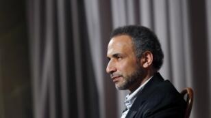 L'intellectuel Tariq Ramadan lors d'une interview avec l'agence Reuters, en avril2010.
