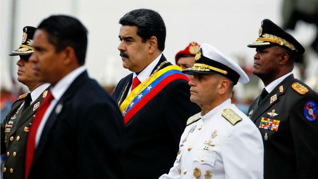 El presidente Nicolás Maduro a la espera de su ceremonia de investidura para un segundo mandato, en Caracas, Venezuela, el 10 de enero de 2019.