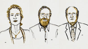 Los estadounidenses Frances Arnold y George Smith y el británico Gregory Winter, ganadores del Premio Nobel de Química 2018.