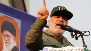 قائد الحرس الثوري الإيراني حسين سلامي في طهران، في 25 نوفمبر/تشرين الثاني 2019.