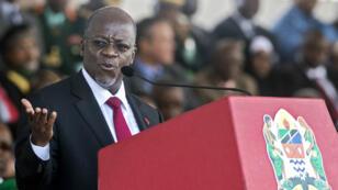 Le président tanzanien, John Magufuli, ici à Dar es Salaam le 5 novembre 2015, a instauré une rhétorique officielle condamnant l'homosexualité depuis son arrivée au pouvoir.