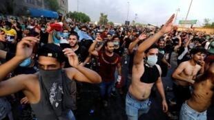 مظاهرات في بغداد في 2 أكتوبر/تشرين الأول 2019