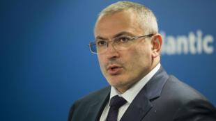 L'opposant russe Mikhaïl Khodorkovski lors d'une conférence à Washington DC, le 17 juin 2015.