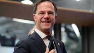 El primer ministro de Holanda, Mark Rutte, en una cumbre del Consejo Europeo, en Bruselas, el 21 de febrero de 2020