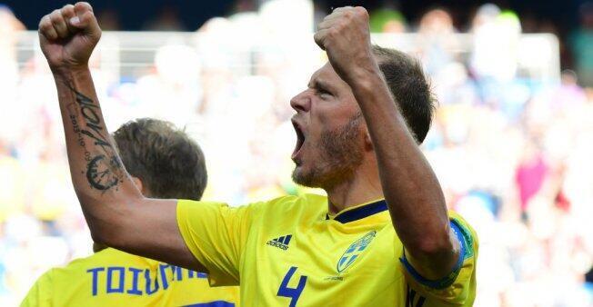 Andreas Granqvist, el capitán de Suecia transformó la pena máxima que le dio tres puntos a los escandinavos.