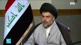 زعيم التيار الصدري (شيعة) في العراق مقتدى الصدر.