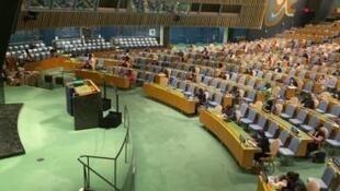 Les bancs de l'hémicycle des Nations unies resteront vides, lundi 21 septembre, à New York, à l'occasion du 75e anniversaire de l'ONU.