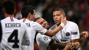 La vitesse de Kylian Mbappé aura eu raison de la défense de Manchester United, mardi 12 février 2019 à Old Trafford.