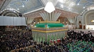 Iranians visit the tomb of the Islamic Republic's founder, Ayatollah Ruhollah Khomeini, on the occasion of the 40th anniversary of his triumphant return from exile