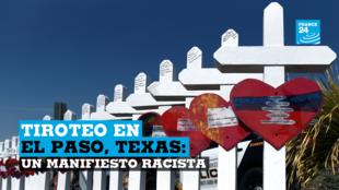 Una cruz para cada una de las víctimas espera ser llevada a un sitio conmemorativo dos días después de un tiroteo masivo en una tienda Walmart en El Paso, Texas, EE. UU., 5 de agosto de 2019.