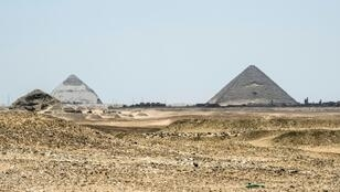 A picture taken on July 14, 2018 shows a general view of the Saqqara necropolis south of Cairo where Egyptian antiquities officials say a new tomb belonging to a high priest and dating back more than 4,400 years
