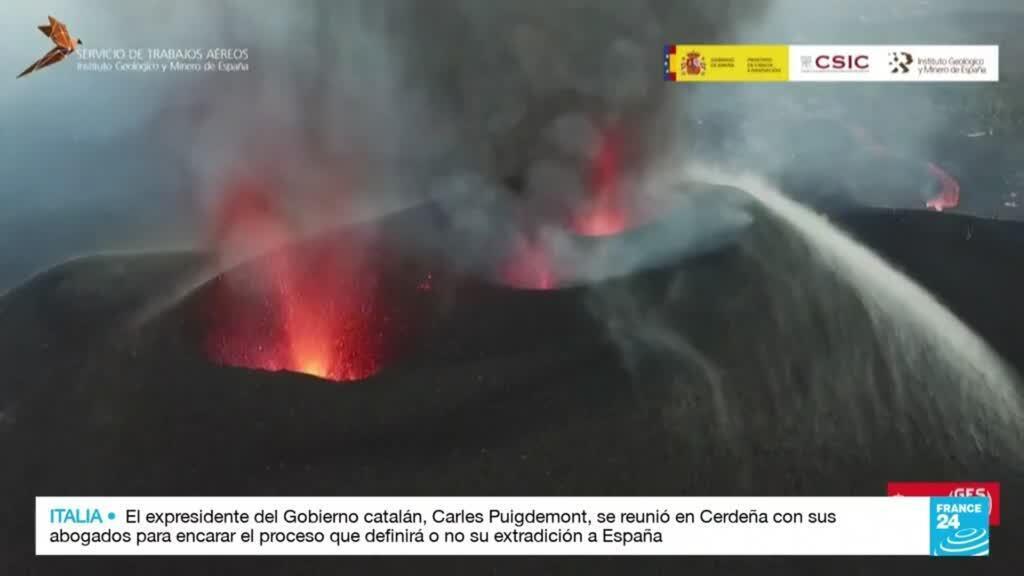 2021-10-03 19:31 Gobierno español anunció paquete de ayudas económicas para reconstruir la isla de La Palma