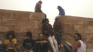 Sur les remparts d'Essouira pendant le festival 2012