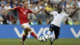لقطة من مباراة فرنسا والدانمارك 26 حزيران/يونيو 2018
