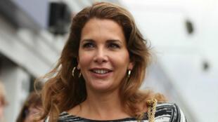 La princesa Haya, hija del rey Hussein de Jordania, se refugió en Londres.