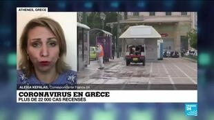 2020-10-13 14:05 Le point sur la pandémie de Covid-19 en Grèce : près de 22 000 cas recensés