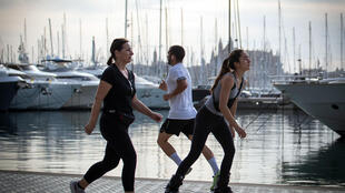 Spaniards took to the streets to exercise for the first time since the beginning of a national lockdown