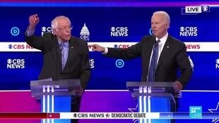 2020-02-26 10:08 Débat démocrate : pour les rivaux de Bernie Sanders, Trump sera réélu s'il remporte les primaires