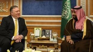 ولي العهد السعودي الأمير محمد بن سلمان ومايك بومبيو.