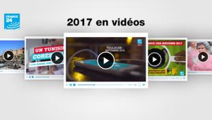France 24 revisite l'année 2017 en vidéos.