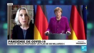 """2020-05-18 18:02 Covid-19 en Europe : La Commission européenne """"se réjouit"""" de la proposition franco-allemande pour la relance"""