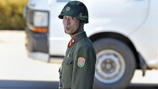 A North Korean soldier near the border with the South
