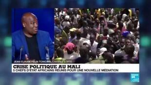 2020-07-23 11:06 Crise politique au Mali: 5 chefs d'Etat africains réunis pour une nouvelle médiation