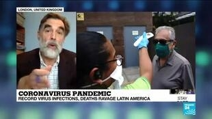 2020-05-23 09:01 Coronavirus cases have exploded in Brazil, Latin America's largest economy