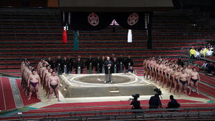 The spring grand sumo tournament was held behind closed doors due to the coronavirus outbreak